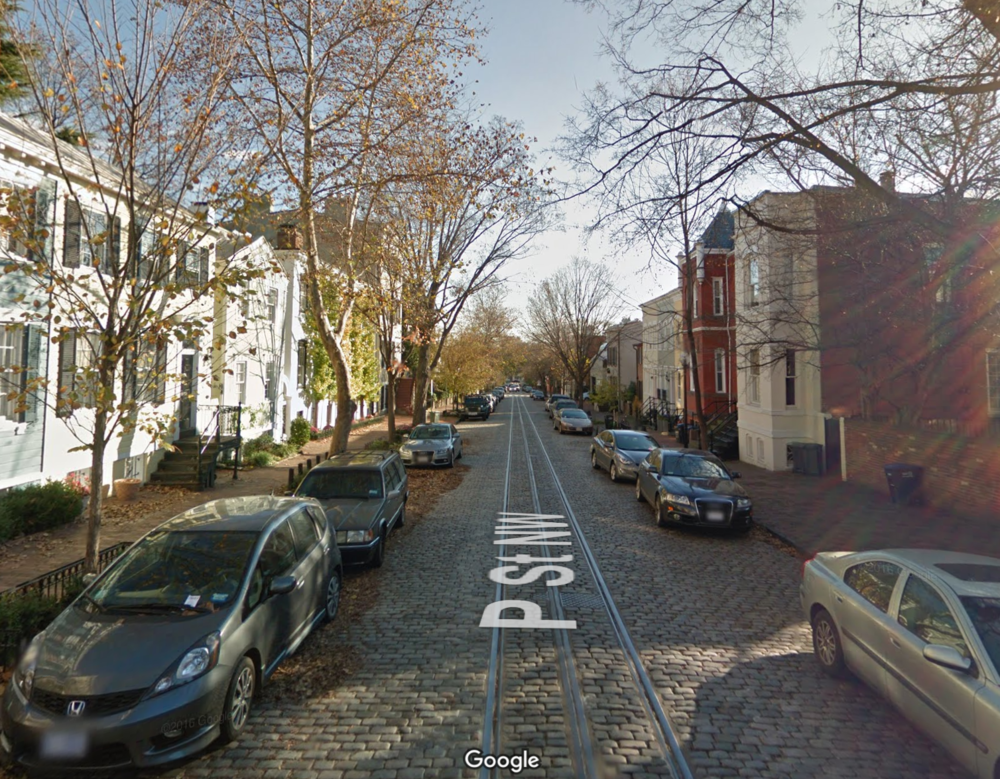 34th and P Street NW.  Google Maps  image
