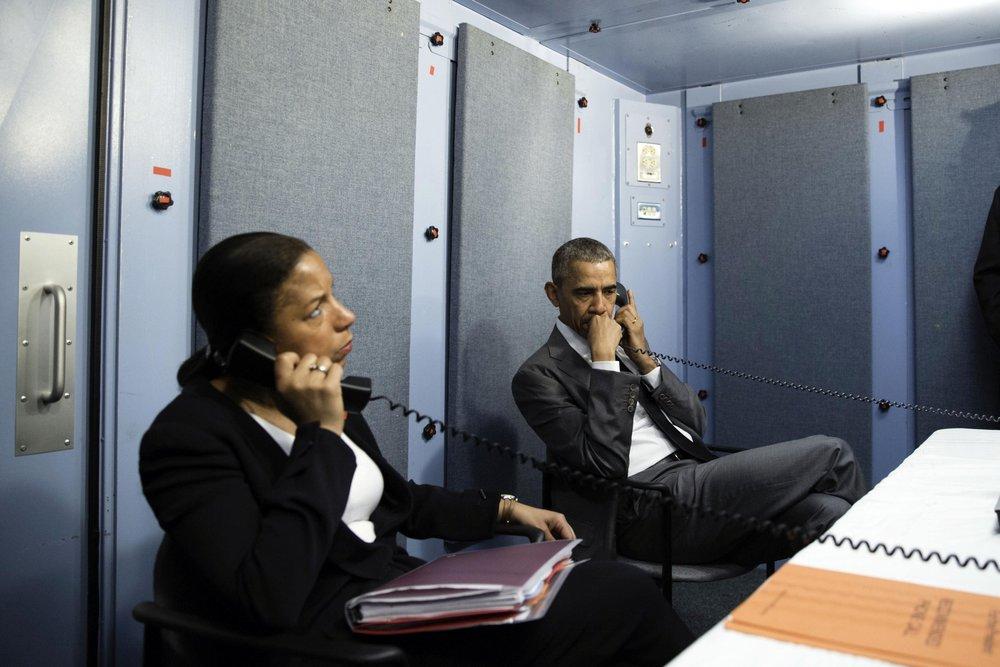 President Obama in a SCIF in 2012.  Wikimedia  image