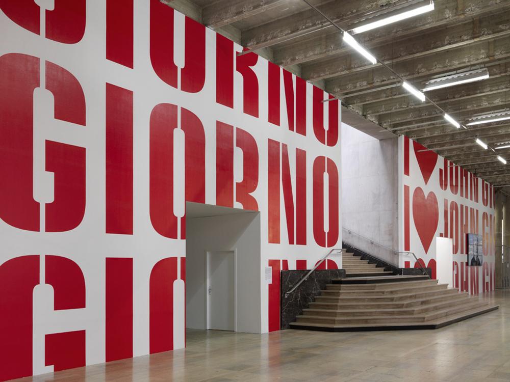 Exhibition View,  UGO RONDINONE : I ♥ JOHN GIORNO  , Palais de Tokyo (10.21.2015 – 01.10.2016). Photo credit: André Morin Scott Kin. Courtesy of Palais de Tokyo.