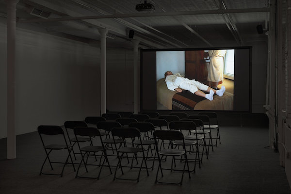 Installation view: Jos de Gruyter and Harald Thys,  Xanax Film Festival , Gavin Brown's enterprise, New York, February 25 – April 30, 2017. Courtesy Gavin Brown's enterprise.