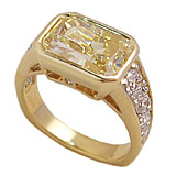 Custom yellow Diamond Ring