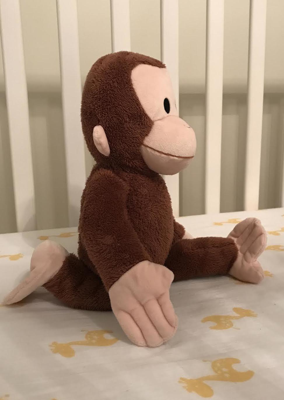 Monkey doing Monkey Pose.