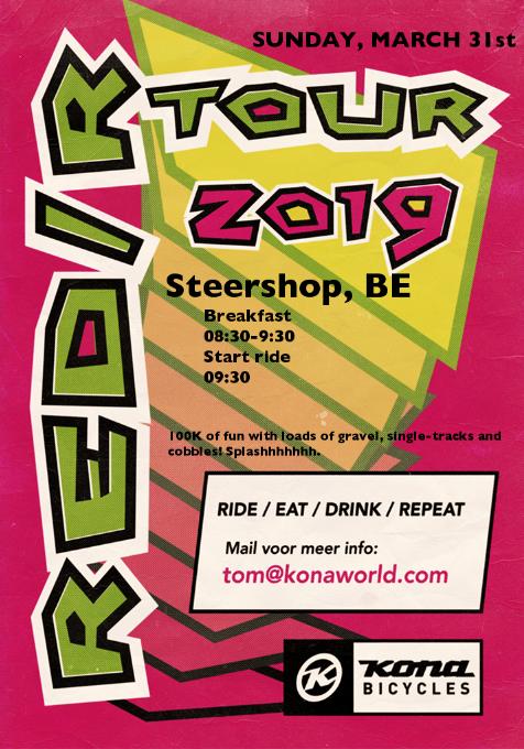 Kona RED/R tour 2019 - Steershop