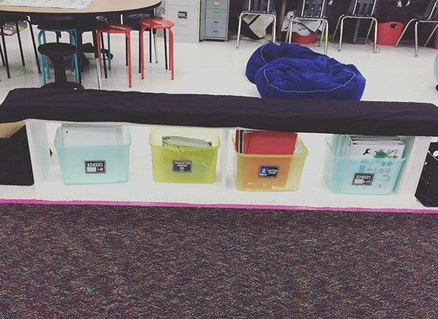 This is where students store all of their supplies. Minus their take home folder and agendas. They share community supplies (pencils, scissors, etc.), but those are located around the room.