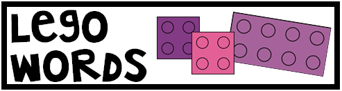 Materials: Spelling Words, Dry Erase Marker, Eraser, Legos/Building Blocks, Lego Words Template