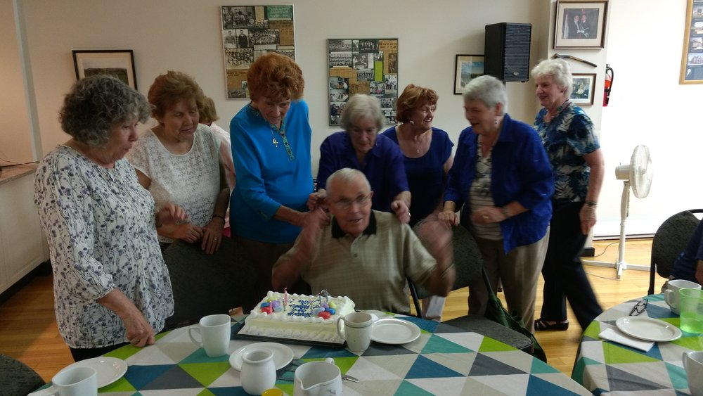 ". .........""and I'll bloody well blow the candles out!""  CONGRATULATIONS MIKE ! Happy 90th !"