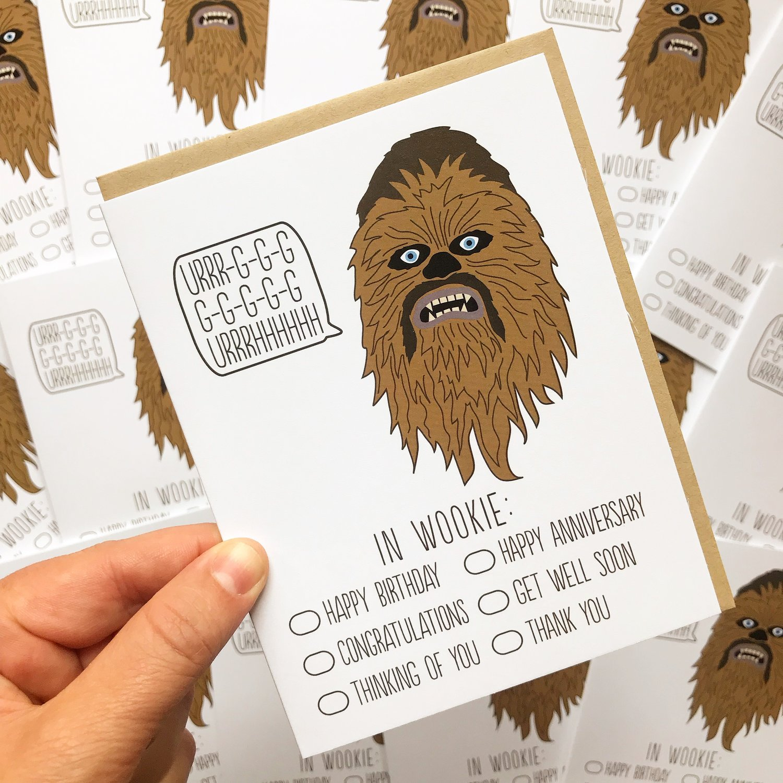 Chewbacca greeting card arthurs plaid pants chewbacca greeting card bookmarktalkfo Choice Image