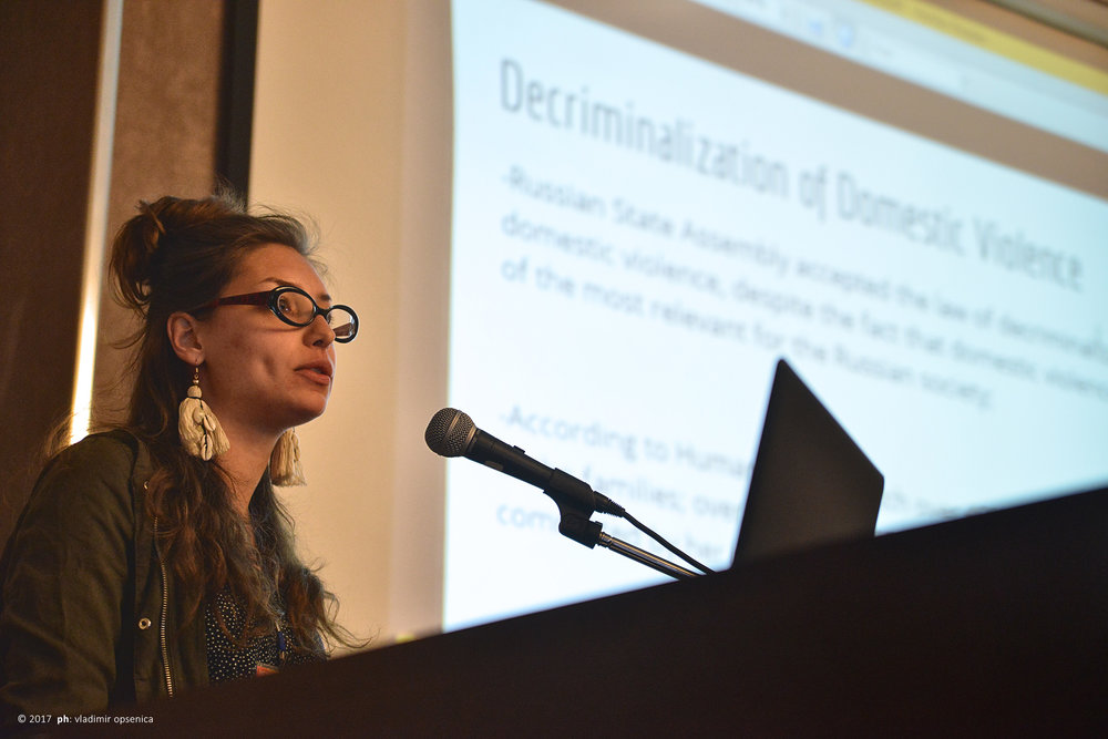 Evdokia Romanova speaking at the 2nd GHRF