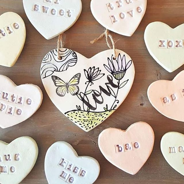 Come see how fun it is to make clay hearts! These sweet fridge magnets & hanging plaques will show your Valentine the handmade love! Only $20 for clay (makes 4 hearts). Easy project, we will teach you!