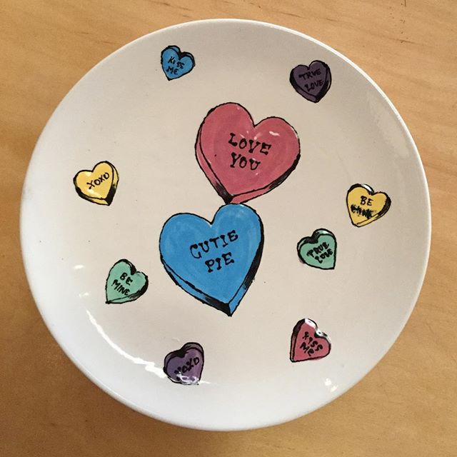 Spread the love with homemade Valentine's Day gifts! Come paint pottery or a wood sign with the people you love!