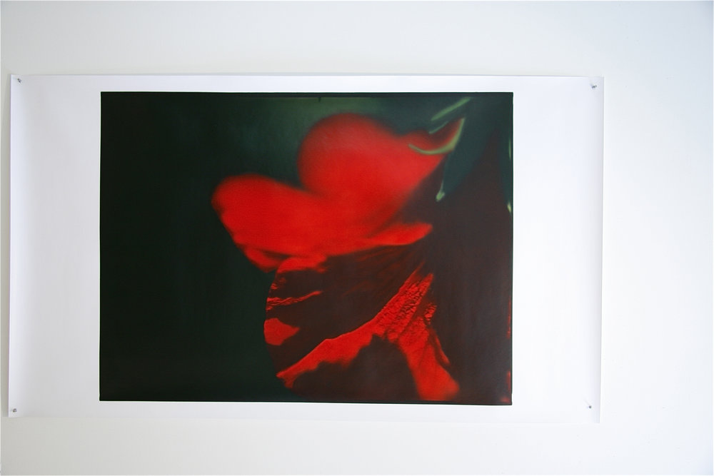 "7-11-07,P.M.#11  34.5"" X 46"" Oil on silver gelatin 2007"