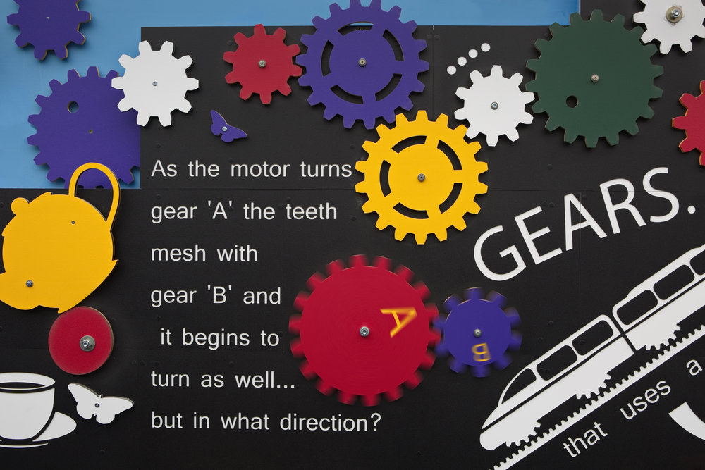 Detail of rotating gears.