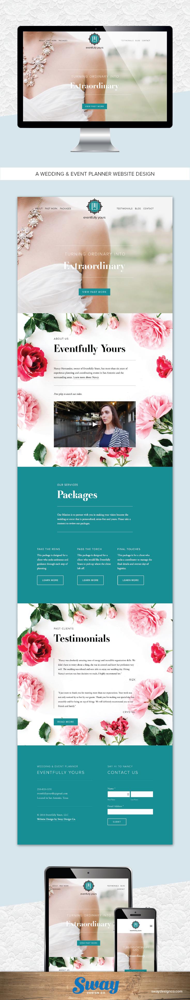 Eventfully Yours Wedding Planner Website Design Sway Design Co