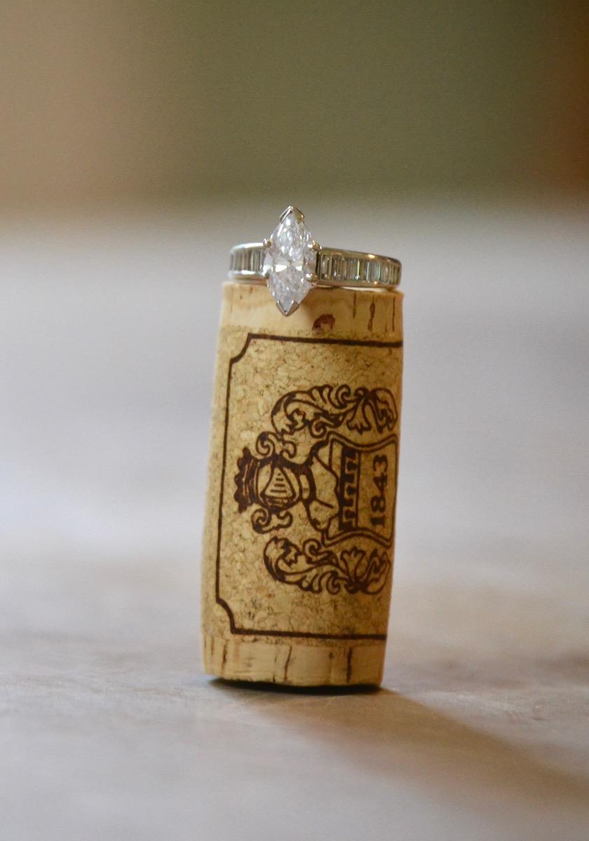 ring on wine cork photo