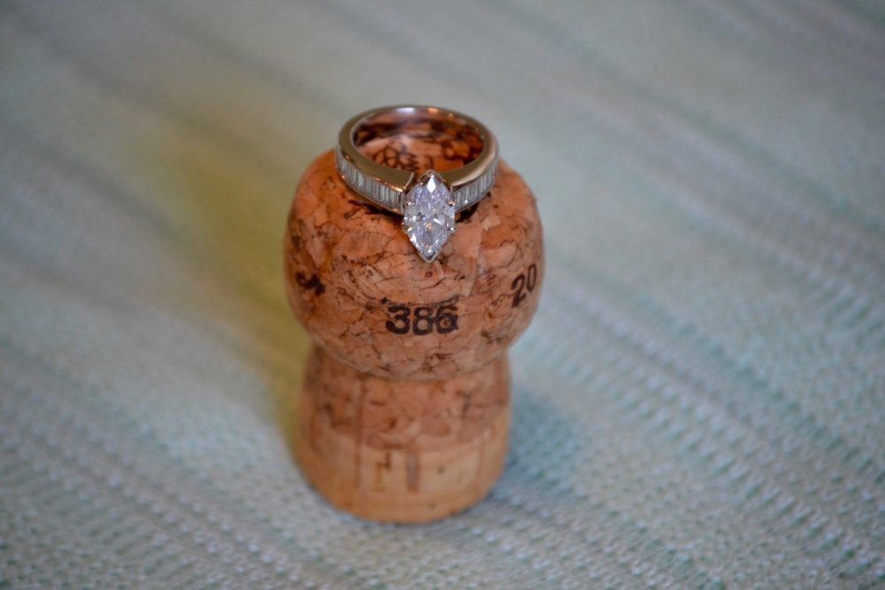 ring on champagne cork