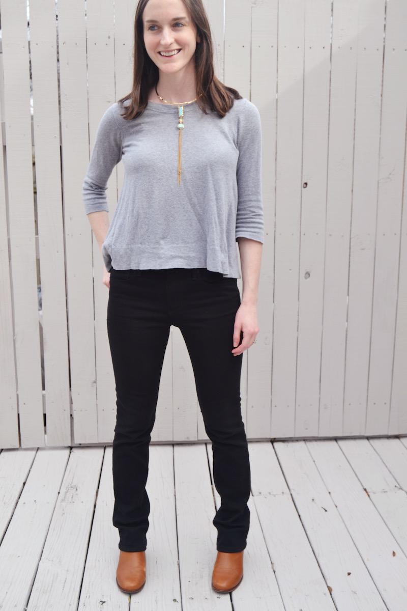 grey jcrew swing sweater