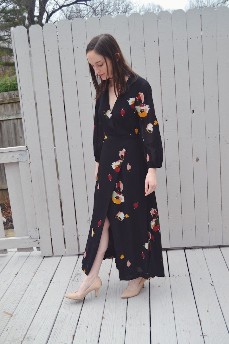 Madewell painted floral maxi dress