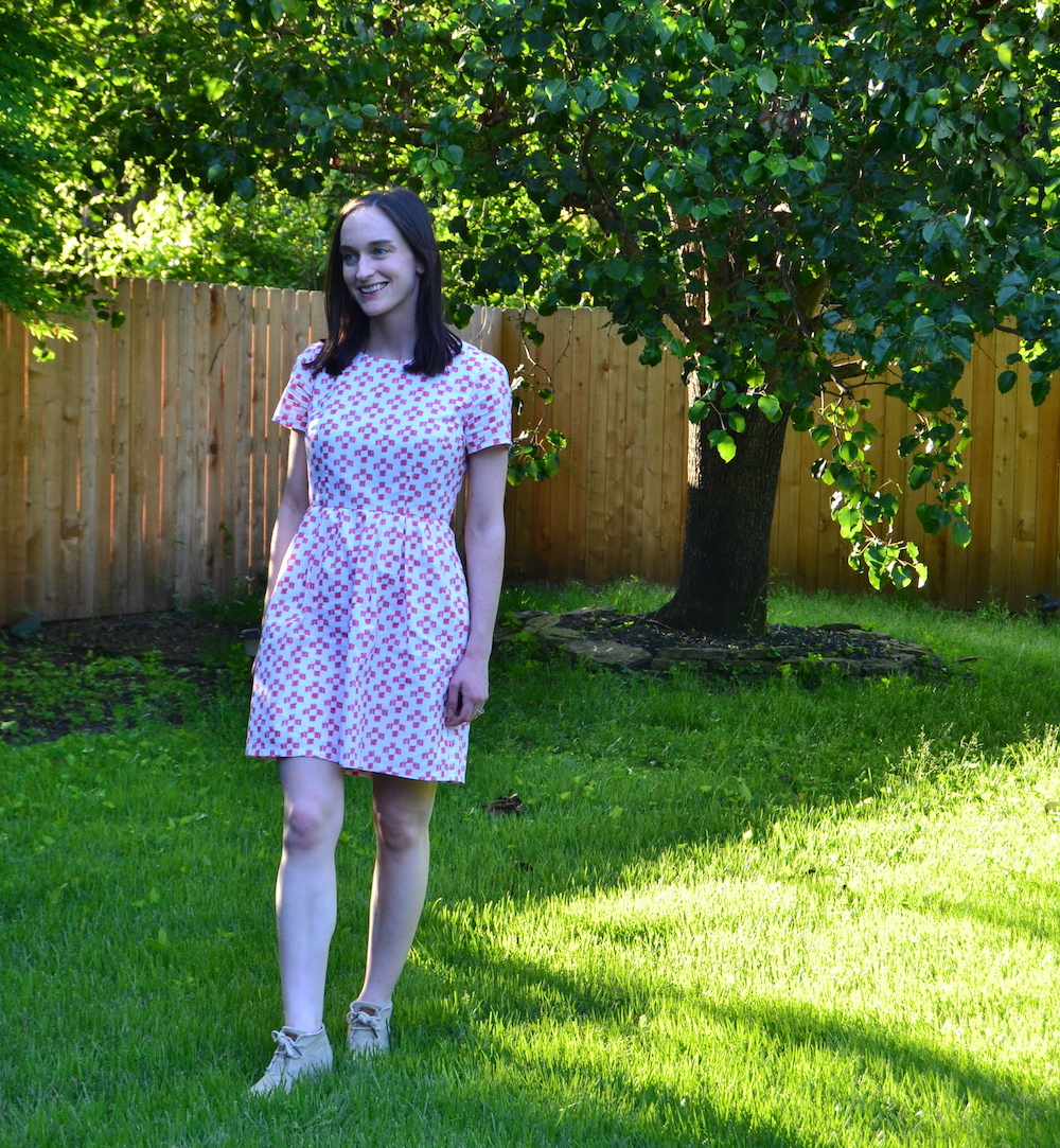 0dc9c693fd5 Madewell Pink   White Checked Sundress — Teresa Daniel Photography