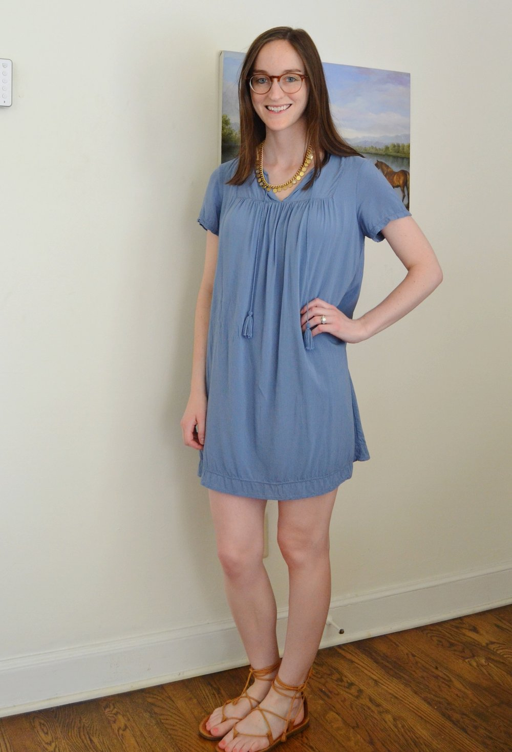 blue old navy dress