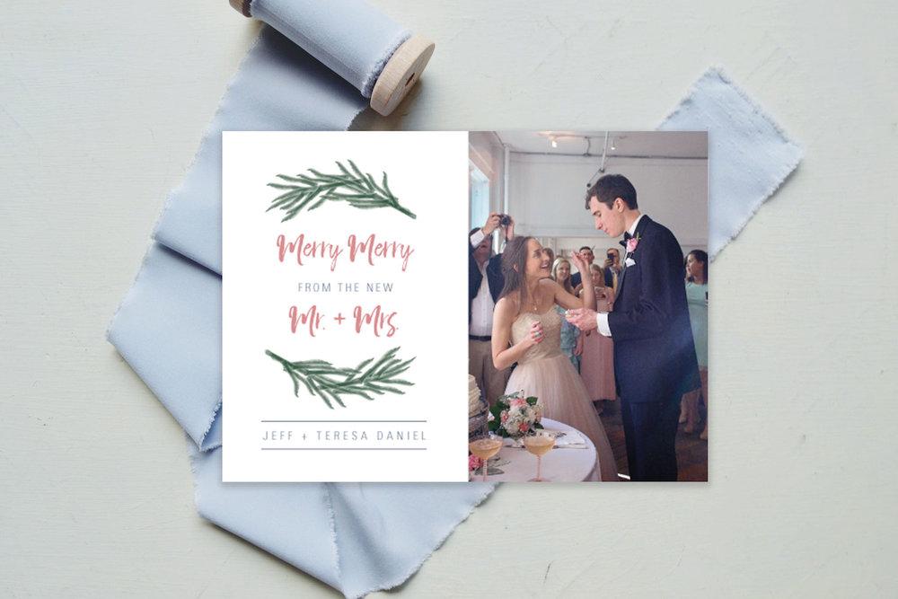 merry merry newlyweds christmas card.jpg