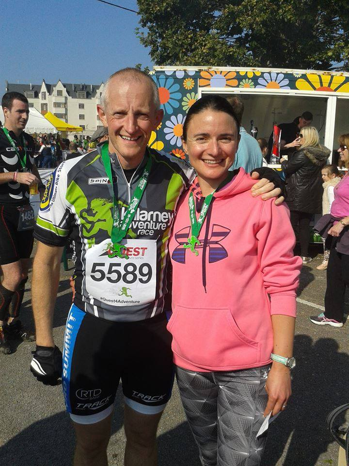 Jen & Niall following their completion of the Quest Killarney Adventure Race in 2015.