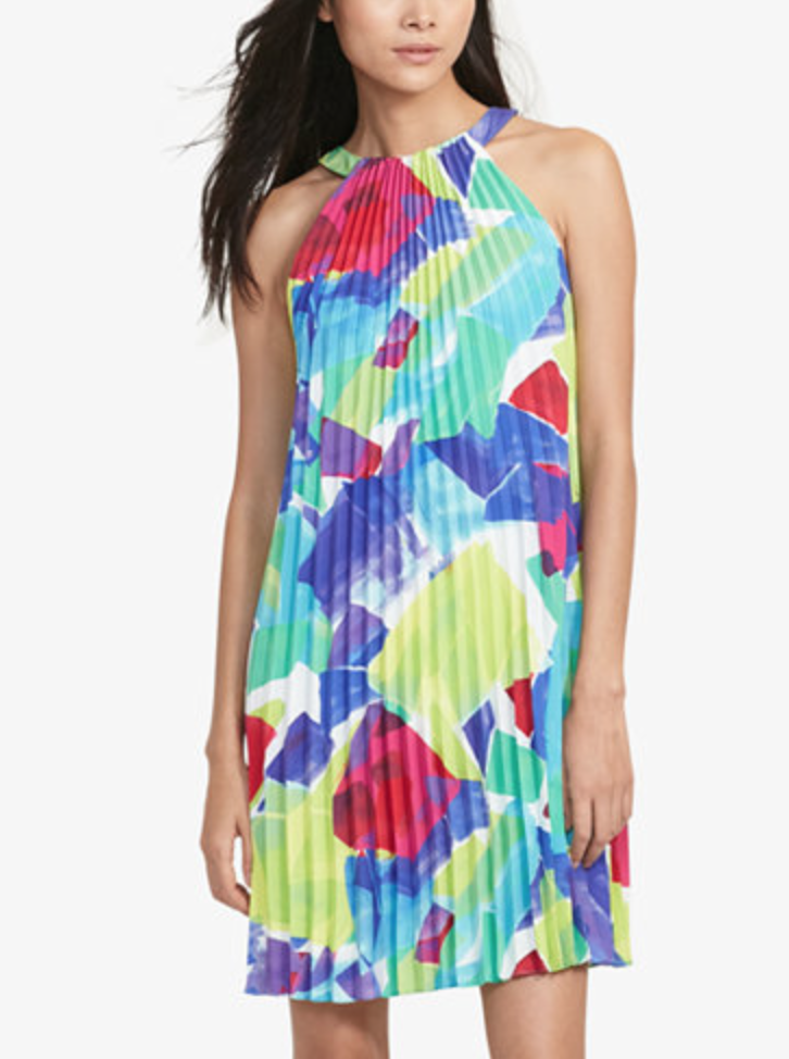 This dress screams Summer! I love how it has different pops of color and  also goes with nude heels. Nude heels are my go-to almost all the time 58b48eab2ec33