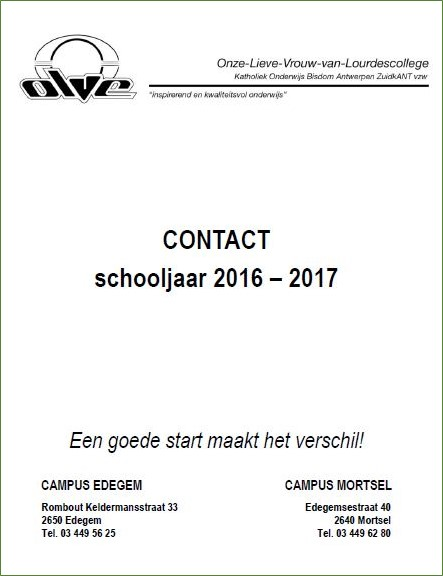 OLVE Contact 2016-2017
