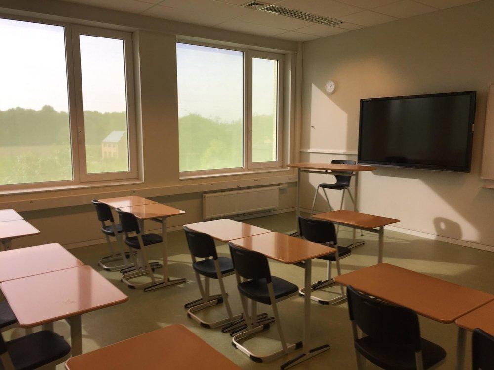 ook wel heel trots op onze nieuwe klaslokalen