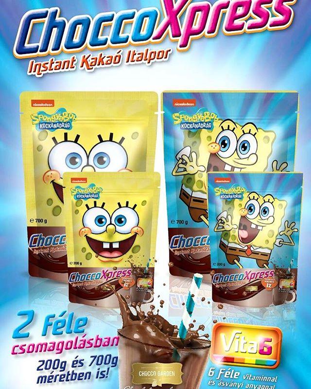 SPONGYABOB 💛 Chocco Xpress instant kakaó 😍 #choccogarden #choccoxpress #spongyabob #spongebob #spongebobsquarepants #yummy #cocoa #cocoapowder #mutimitiszol #instadrink