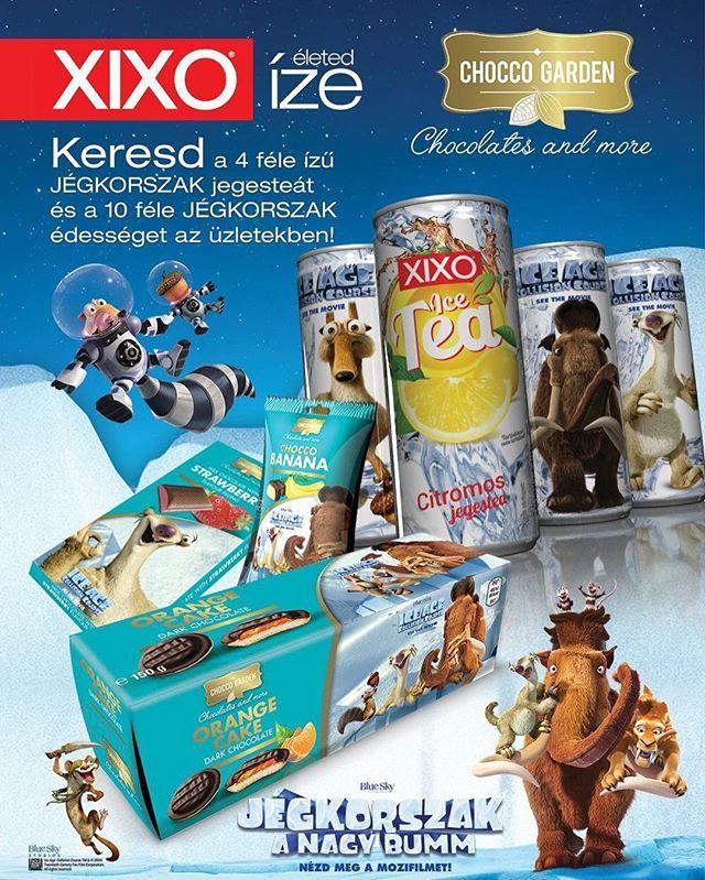 JÉGKORSZAK 💙 @xixodrinks @choccogardenhu #jégkorszak5 #iceage5 #chocolate #icetea