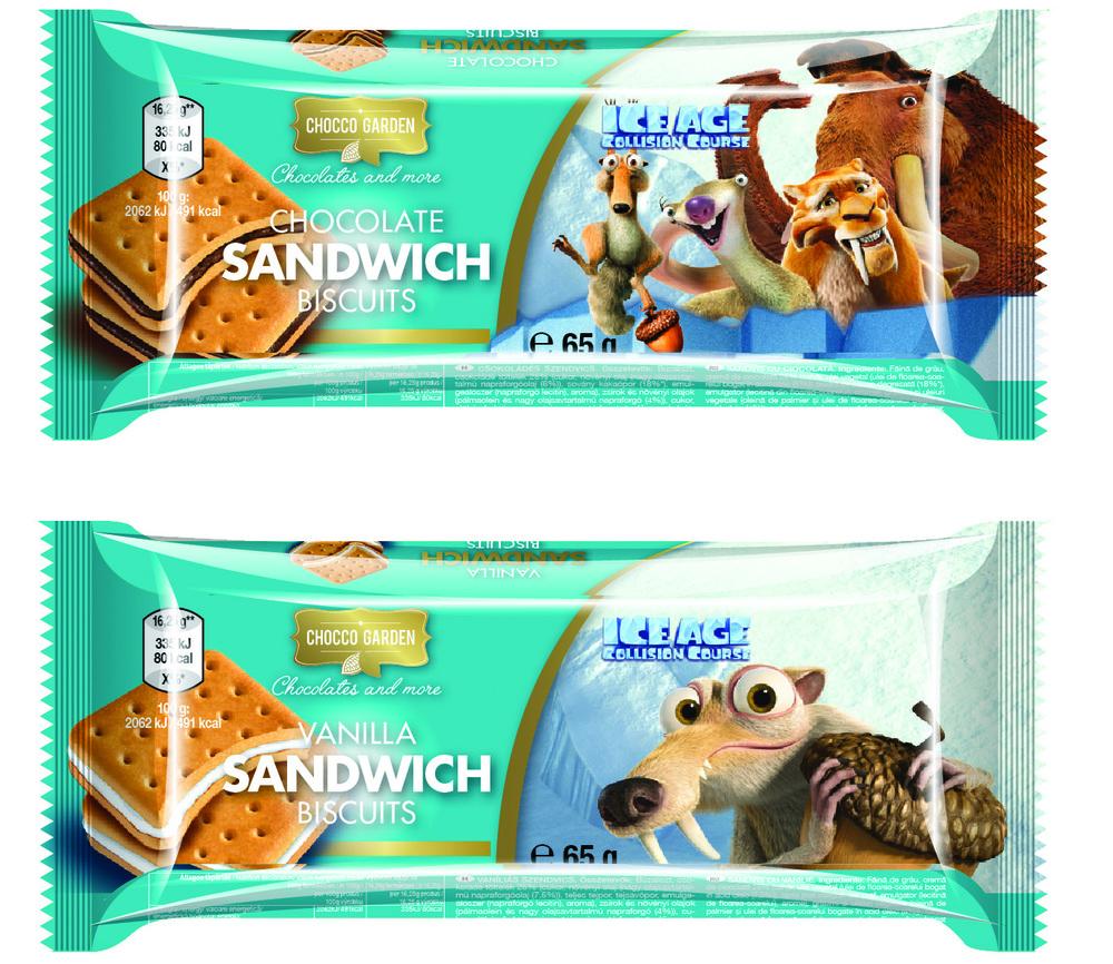 JÉGKORSZAK szendvics keksz