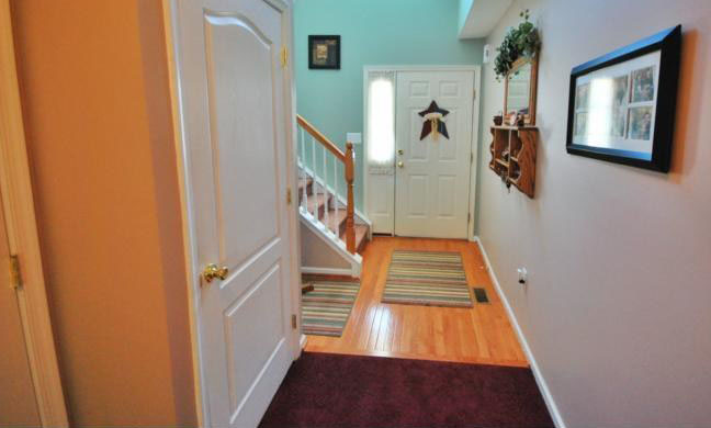 Entry door hallway