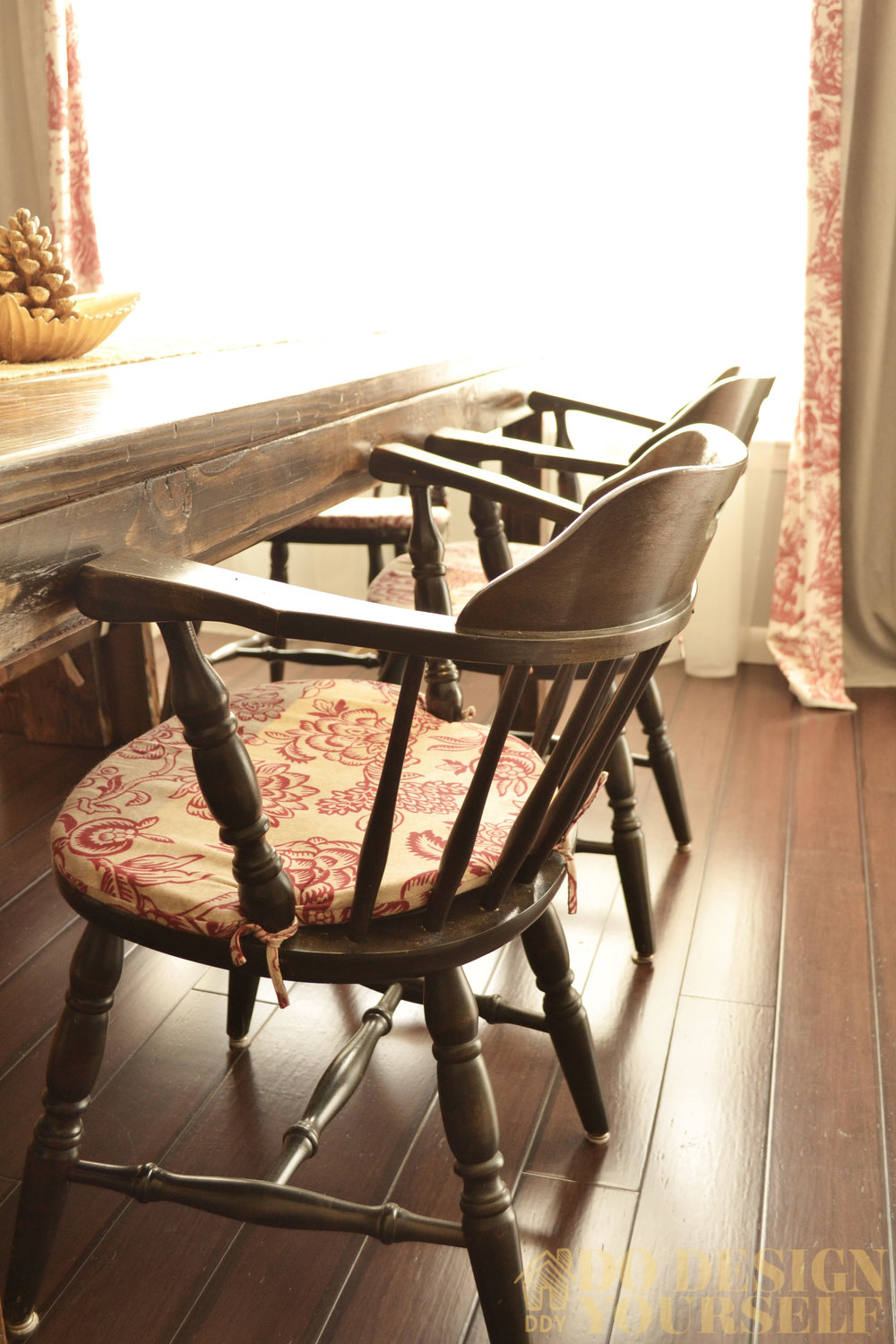 Rustic Sweden dining chairs