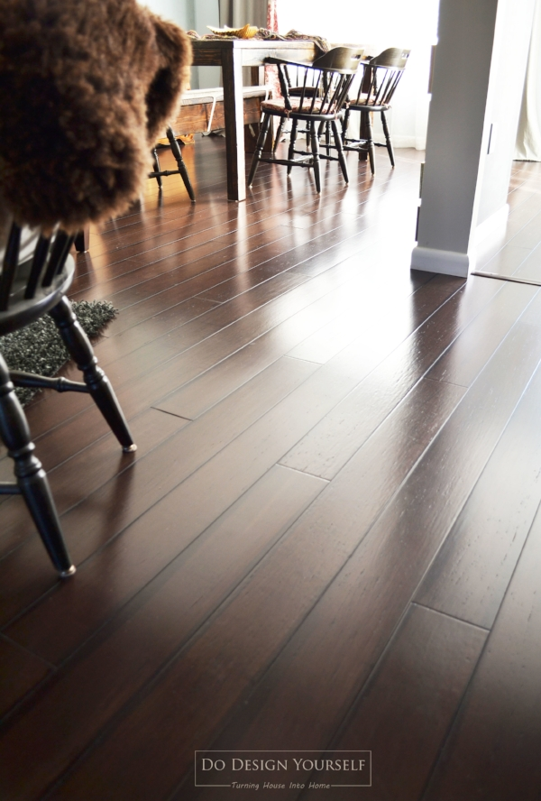 Dark Bamboo Flooring. Eco-friendly alternative to hardwood floors.