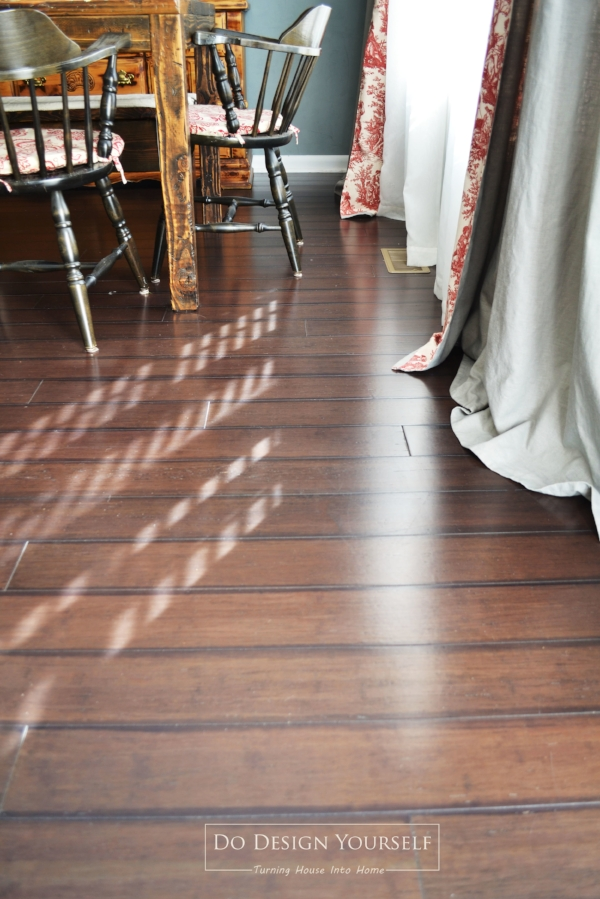 Dark Bamboo Flooring. Lumber Liquidators Antique Peking Floors. An eco-friendly alternative to hardwood floors. Click Lock Installation