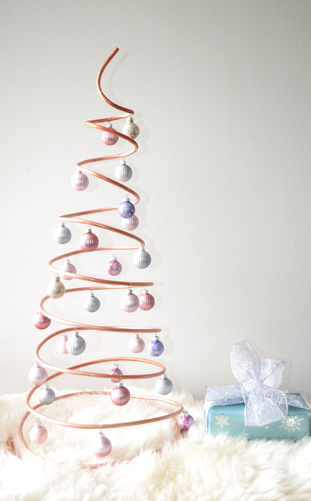 DIY Spiral Christmas Tree Made of Copper Water Line — Do Design Yourself