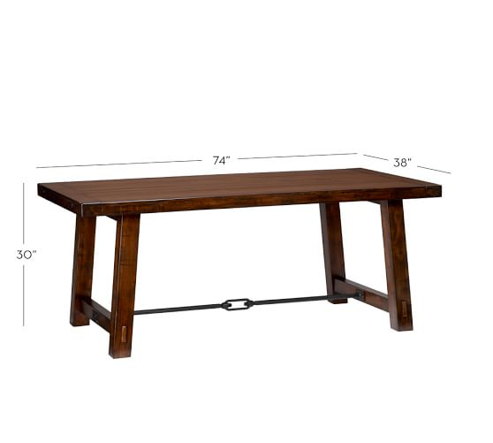 Pottery Barn Benchwright  Fixed Dining Table Price: $1,500