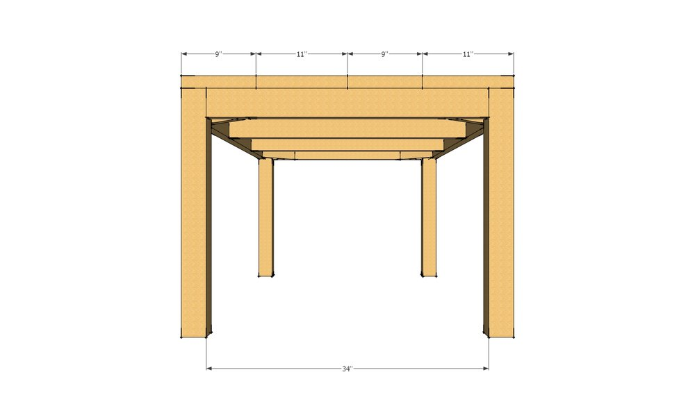 Farmhouse table dimensions