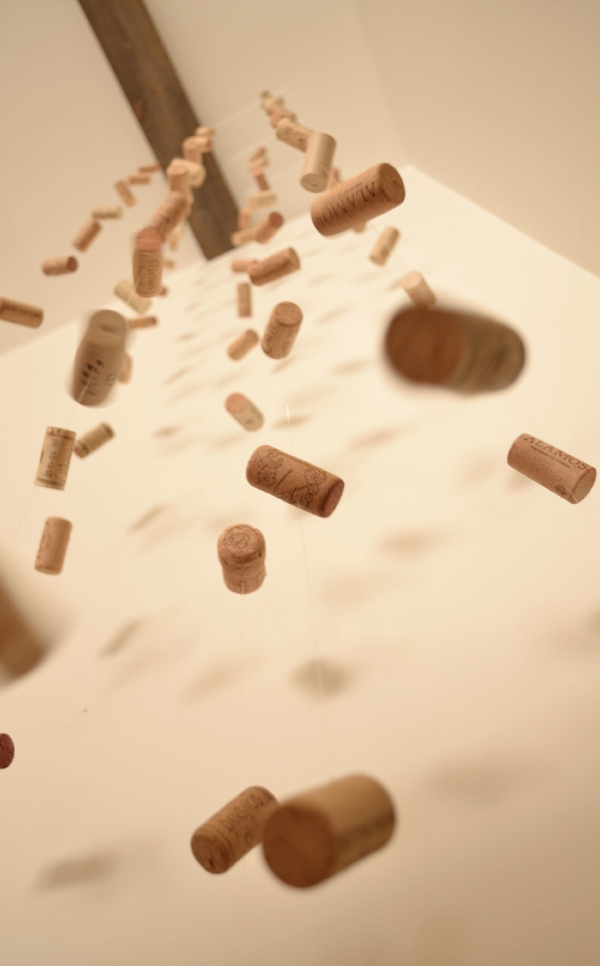 airborne wine corks craft - display your wine cork collection in fun way
