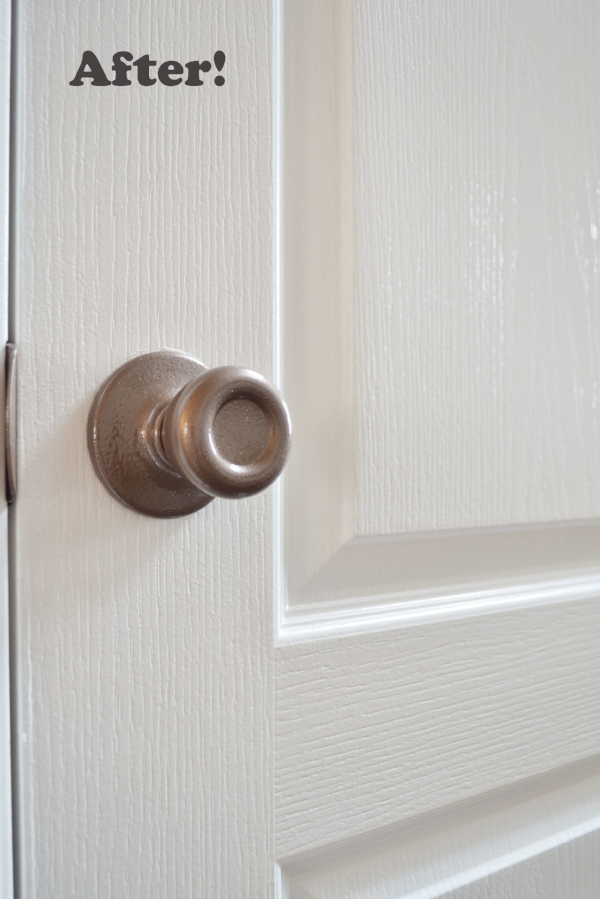 spray painted texture door hardware