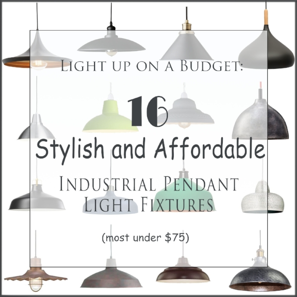 affordable industrial pendant light fixtures
