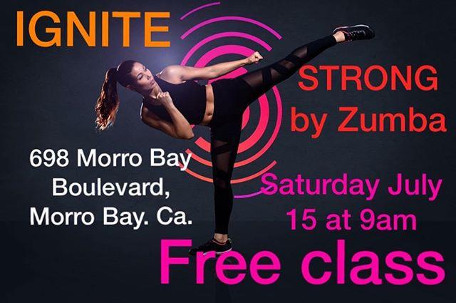 Free Class! Sat, July 15 @erikaconka90 #zumbamorrobay #fitnessmorrobay #morrobay #ignitemovementstudio