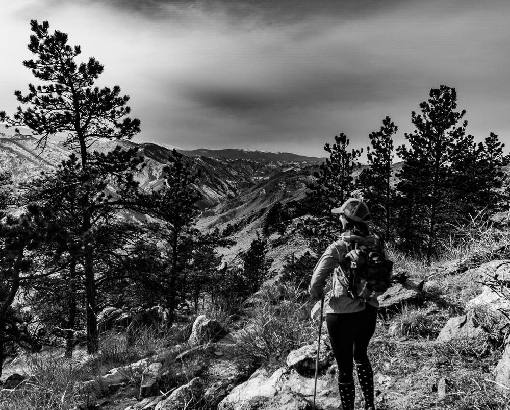 When hiking back down...always make sure to stop and stare off into the horizon to take in what you accomplished. Photo by Zach.