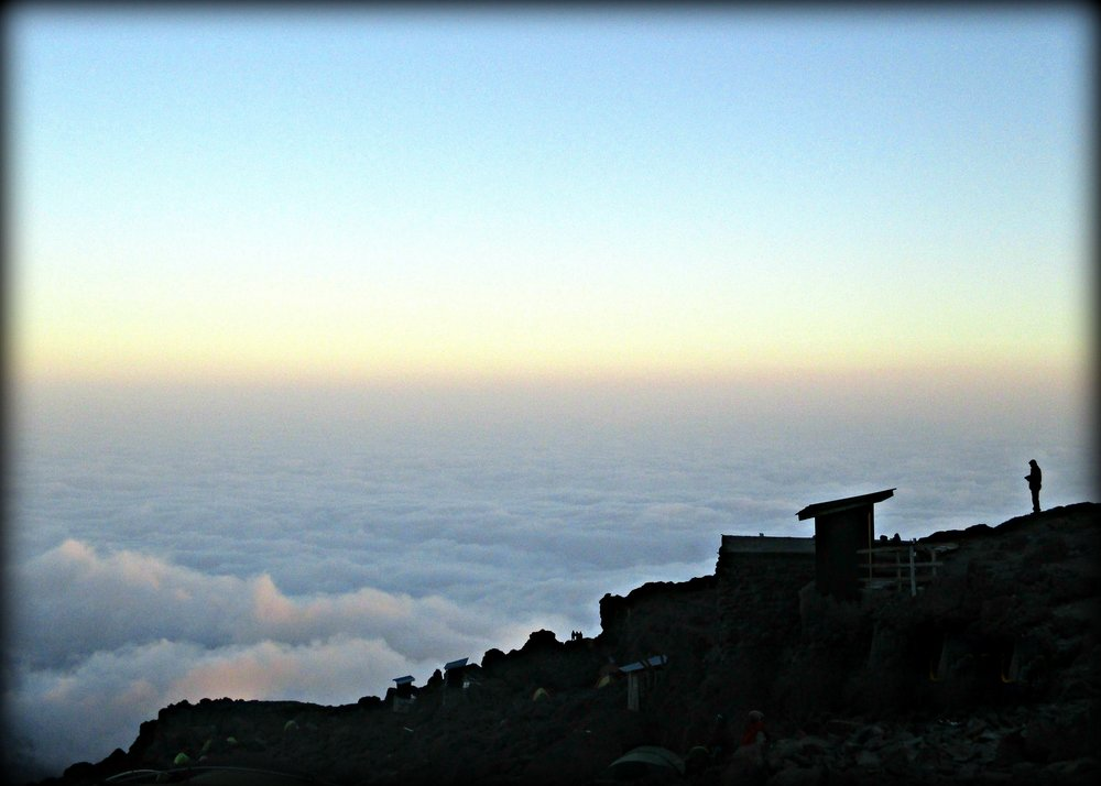 Above the clouds on Mount Kilimanjaro