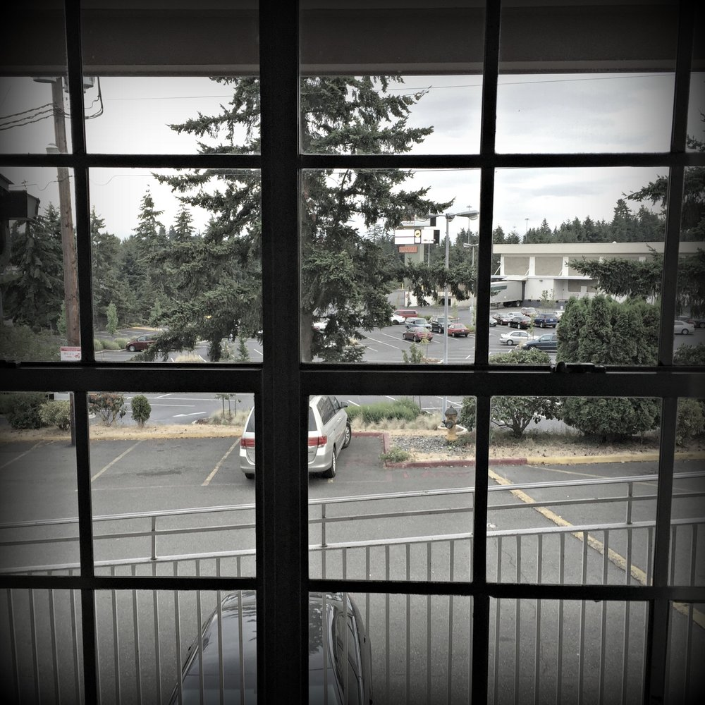 Vista from motel room in Everett