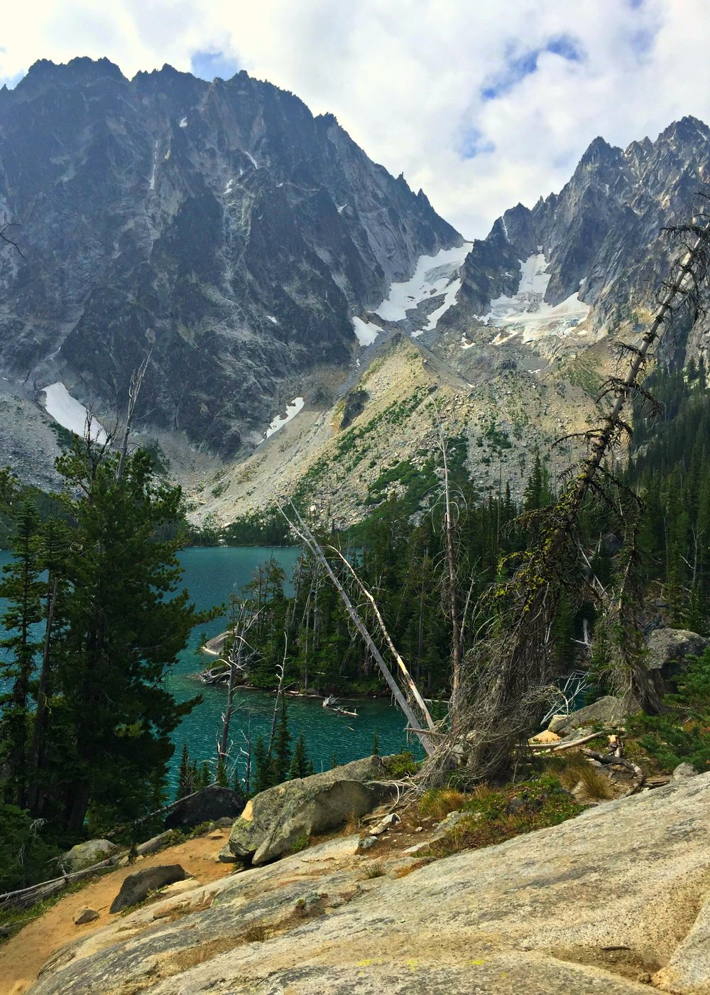 Colchuck Lake in Washington's Alpine Lakes Wilderness Area