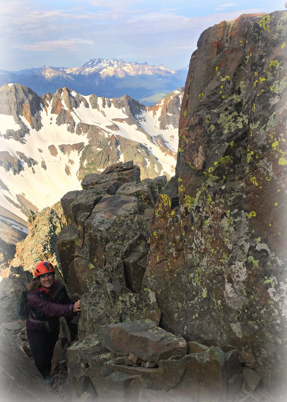 Climbing in Colorado with Amber, friend and author of the blog post