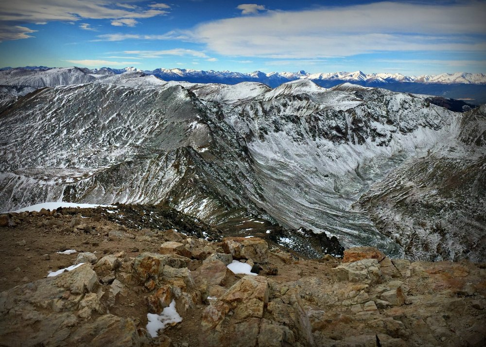 View from summit of Mount Democrat