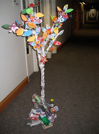 Recycling tree