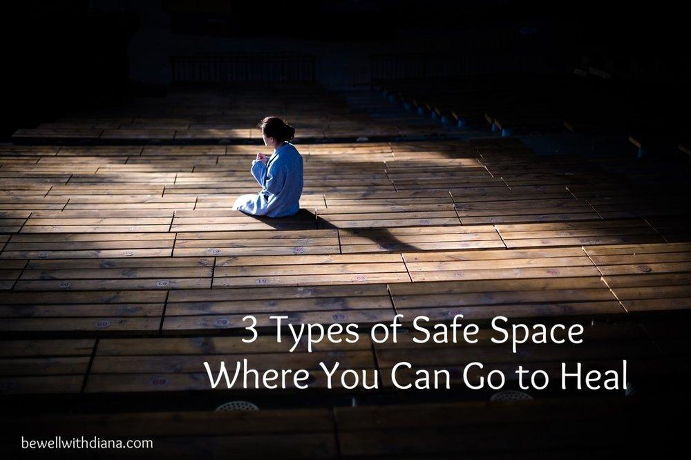 woman praying - safe space for healing